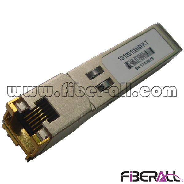 FA-TCU12R45-01 1.25Gbps SGMII 1000BASE-T Copper SFP Transceiver With RJ45 Connector 100 Meters