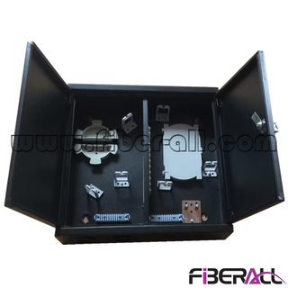 FA-FDWIM24B Fiberall Indoor Wall Mounted Fiber Access and Distribution Box with Lock 24 Cores Black