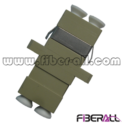 FA-AD-LP2MP-SC,Multimode LC Fiber Optical Adapter with SC Footprint, Duplex, Plastic, Beige