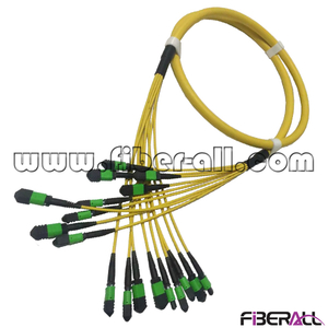 FA-PC-MPMPS72, MPO-MPO Fan-out Optical Fiber Patch Cord, SM, 72 fibers