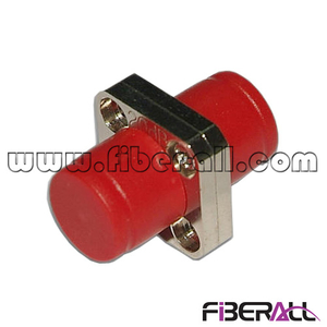 FA-AD-FP1SM-S, Square type FC Fiber Optic Adapter, SM, Simplex , Metal, with Red Dust Cap, Ceramic Sleeve