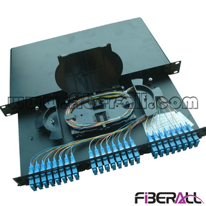 FA-FDR1MD48B-SCD Sliding Out Drawer Type Rack Mounted Fiber Optic Patch Panel with 24 SC Duplex Fiber Port and Changeable Adapter Panel