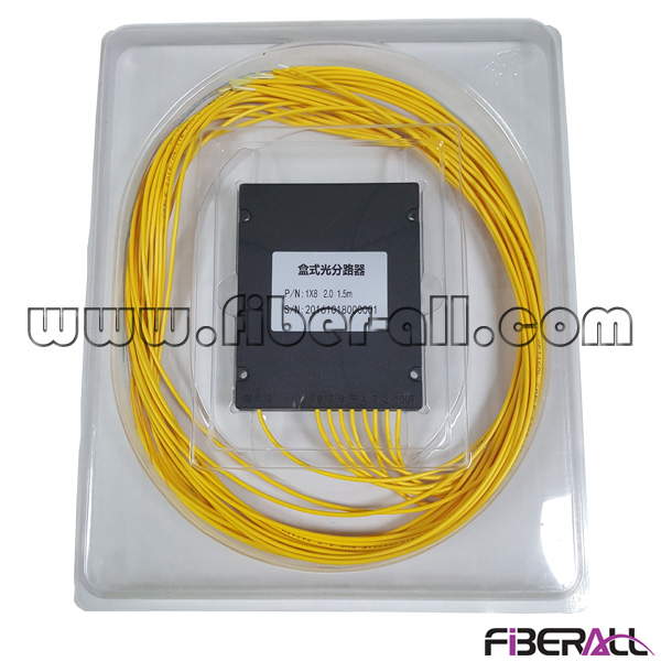 FA-PLCA1×8N,ABS Package 1x8 Optical PLC Splitter without Fiber Connector Can Be Equipped with Patch Panel