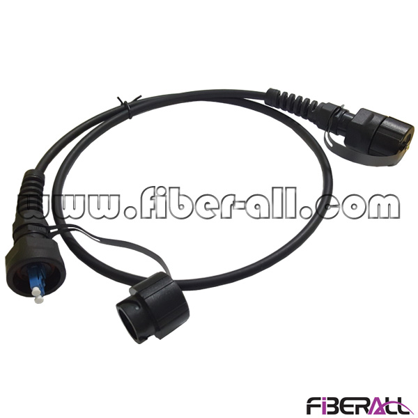 FA-ODVA-LPLAS2 ODVA-LC Optical Fiber Patch Cord with Waterproof Socket for Outdoor Far Transmission