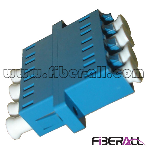FA-AD-LP4SP-F Quadplex LC Fiber Optic Adapter With 4 Channels With Short Flange Or Flangeless SM Blue