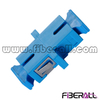 FA-AD-SP1SPC Simplex SC Fiber Optical Adapter with Mushroom Dust Cap, Simplex, Plastic, Blue