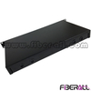 "FA-FDR1MD48B-SCD,Rack Mounted Fiber Optic Patch Panel, 1U Height, 19"" Width, Sliding Out Drawer Type, Metal, Black, 48 Fibers, SC Duplex"