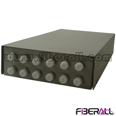 FA-FDTWFM12G-FD 12 Cores Small Fiber Optic Terminal Box for D Type FC Optical Adapter